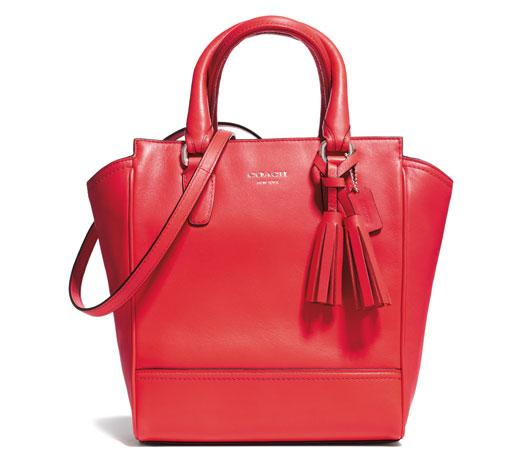Coach Mini Tanner in Pink Scarlet
