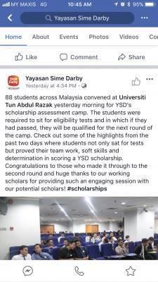 Yayasan Sime Darby Ysd Scholarship 2018