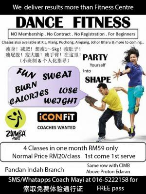 Zumba with Mayi @ Pandan Indah Iconfit