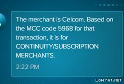 Merchant Category Code (MCC) CashBack list