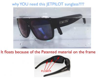 513caba613 WTS  JETPILOT Floating Polarized Sunglasses