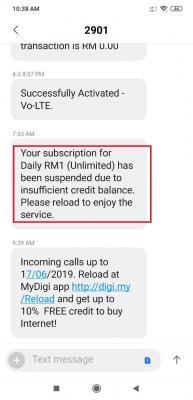 WTS]Digi RM1 Daily Unlimited Prepaid Sim Pack