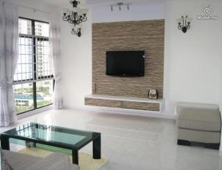 Gypsum Tv Wall Unit Idea : custom tv cabinet like pic still need to add this mdf behind the tv ...