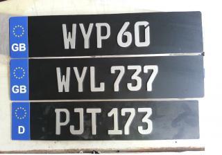 Wts Custom Euro Font Car Plate