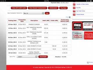 How to print bank statement cimb