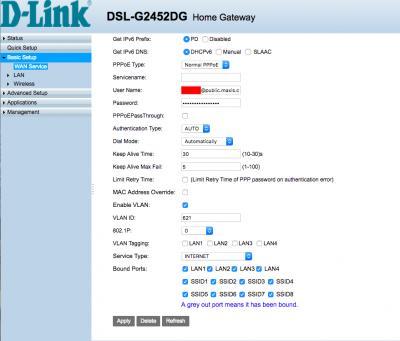 Configuring Maxis Home Fibre Using Dlink DSL-G2452