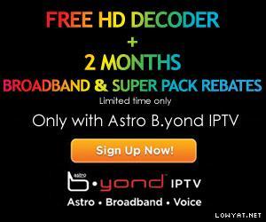 Astro IPTV broadband VS Unifi
