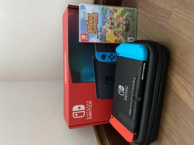 WTS Nintendo Switch v2 Neon with Animal Crossing