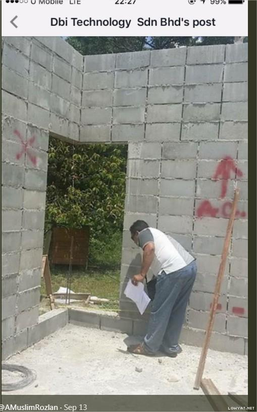 Build own house for RM45k  3 room 2 toilet