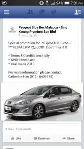 Peugeot 408 Owners/ Fans Thread [V2]
