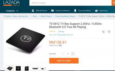 T9 S912 - 2GB/16B Android TV Box