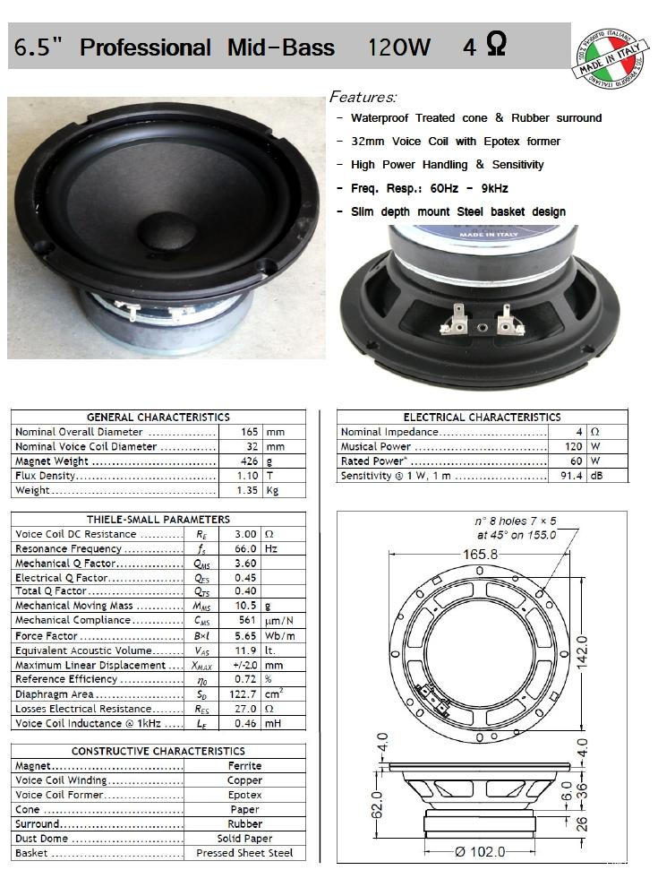 """6.5"""" SICA Mid-Woofer """"made in Italy"""" Post-110158-1385084562"""