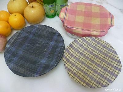 100% Natural Beeswax Food Wrap - 3 pieces