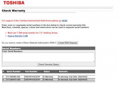 WTS>TOSHIBA 4TB ENTERPRISE HARD DRIVE