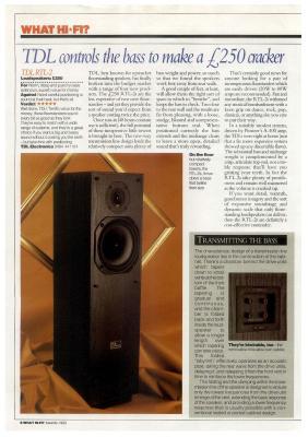 WTS>TDL RTL2 Vintage Reflex transmission line Spk