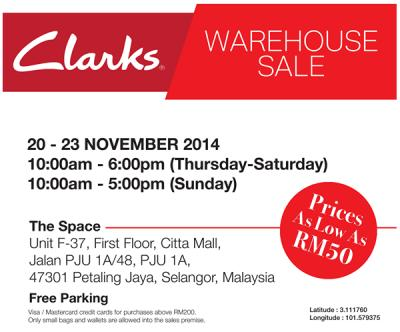6278106ac080a9 Attached Image Clarks Malaysia Warehouse Sale in November 2014