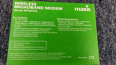 WTS] ZTE MF920VS Wireless Broadband Modem