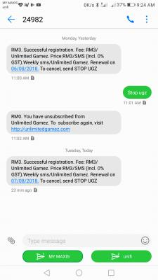 Unsubscribe SMS Spam from 23238