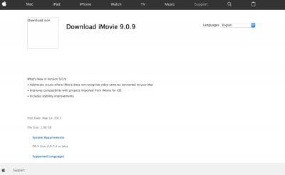 imovie 9 0 download