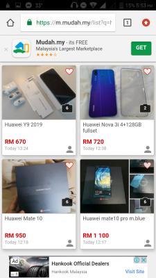 mudah lot of huawei/honor super sale