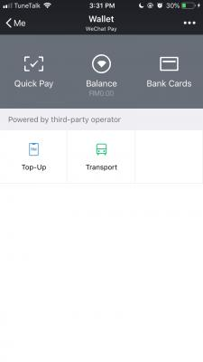 WeChat Pay Malaysia can use liao