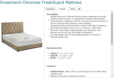 Dreamland Mattress Slight Depression After Photo Of