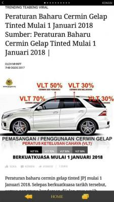tinted cermin mulai 1 jan 2018attached image \