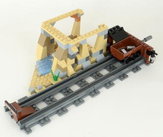Lego Dark Bluish Grey Train no slots//notches x 4 p//n 3228c Track Rail Straight