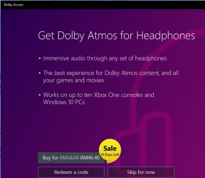 Dolby atmos for windows 10 on sale