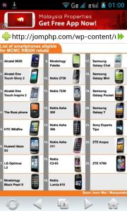 rm200 smartphone rebate 2012 discussion borang online rebate handphone