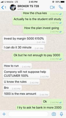 Scam by an investment fxxker