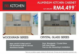 Full Aluminium Kitchen Cabinet