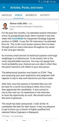 Exxonmobil Malaysia Engineer Interview